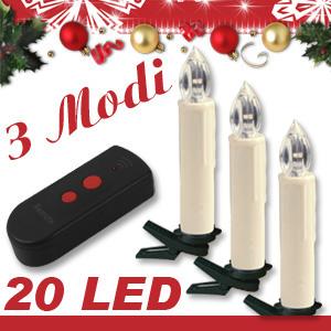 20 led lichterkette kerzen kabellos weihnachtskerzen. Black Bedroom Furniture Sets. Home Design Ideas