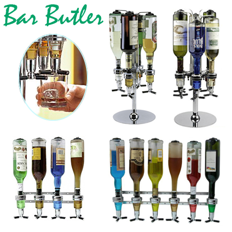 bar butler 4er 6er flaschenhalter getr nkeportionierer tisch wand w hlba ebay. Black Bedroom Furniture Sets. Home Design Ideas