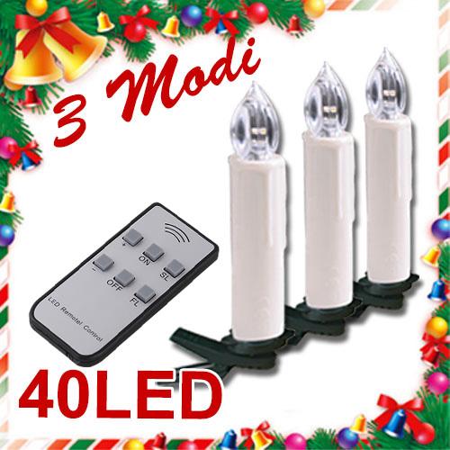 20 30 40 led lichterkette kerzen kabellos weihnachtskerzen christbaumschmuck ebay. Black Bedroom Furniture Sets. Home Design Ideas