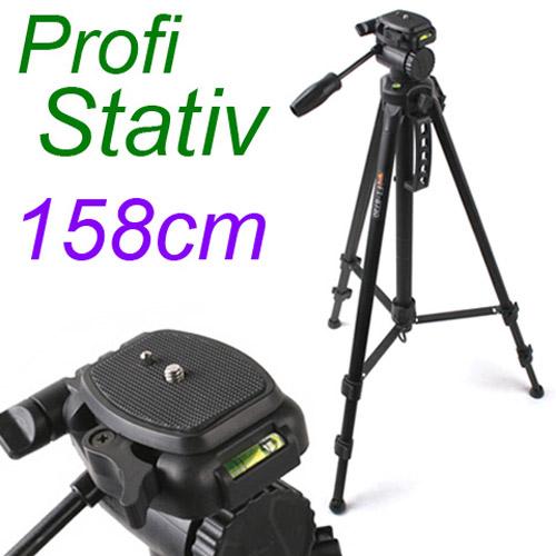 158cm-Foto-Stativ-Kamera-Staender-fuer-Canon-Nikon-Camcorder-150038