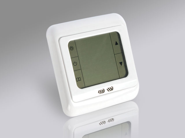 fussbodenheizung touchscreen thermostat raumthermostat digital blau weiss 10301. Black Bedroom Furniture Sets. Home Design Ideas
