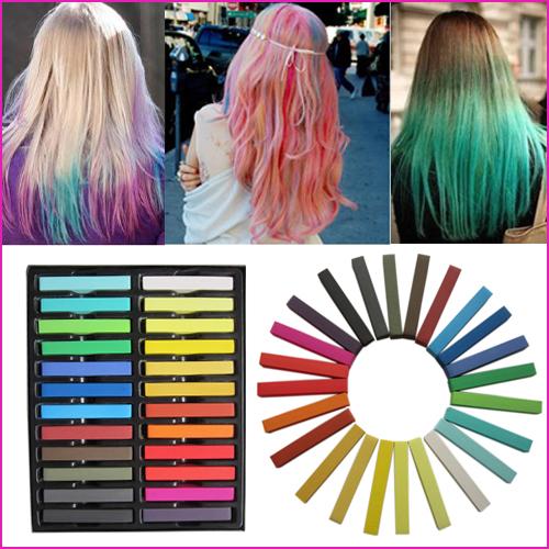 haar farben haarkreide palette haar kreide faerben set