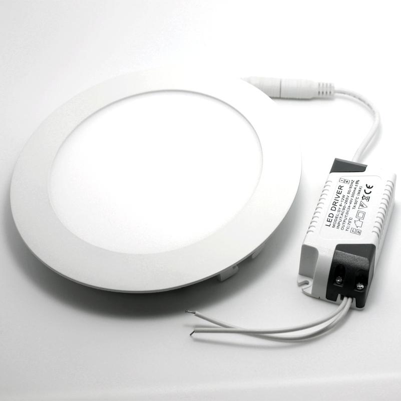 dimmbar 12w lochgr e 150mm led panel leuchte deckenlampe warmwei rund ns7061 ebay. Black Bedroom Furniture Sets. Home Design Ideas