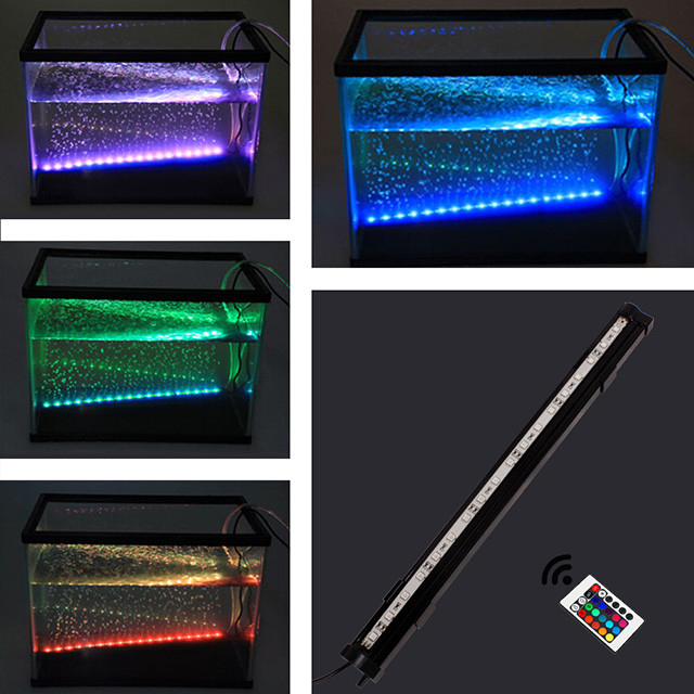 aquarium beleuchtung rgb bubble led leuchtbalken lampe licht 18 3040 50 60 88cm ebay. Black Bedroom Furniture Sets. Home Design Ideas