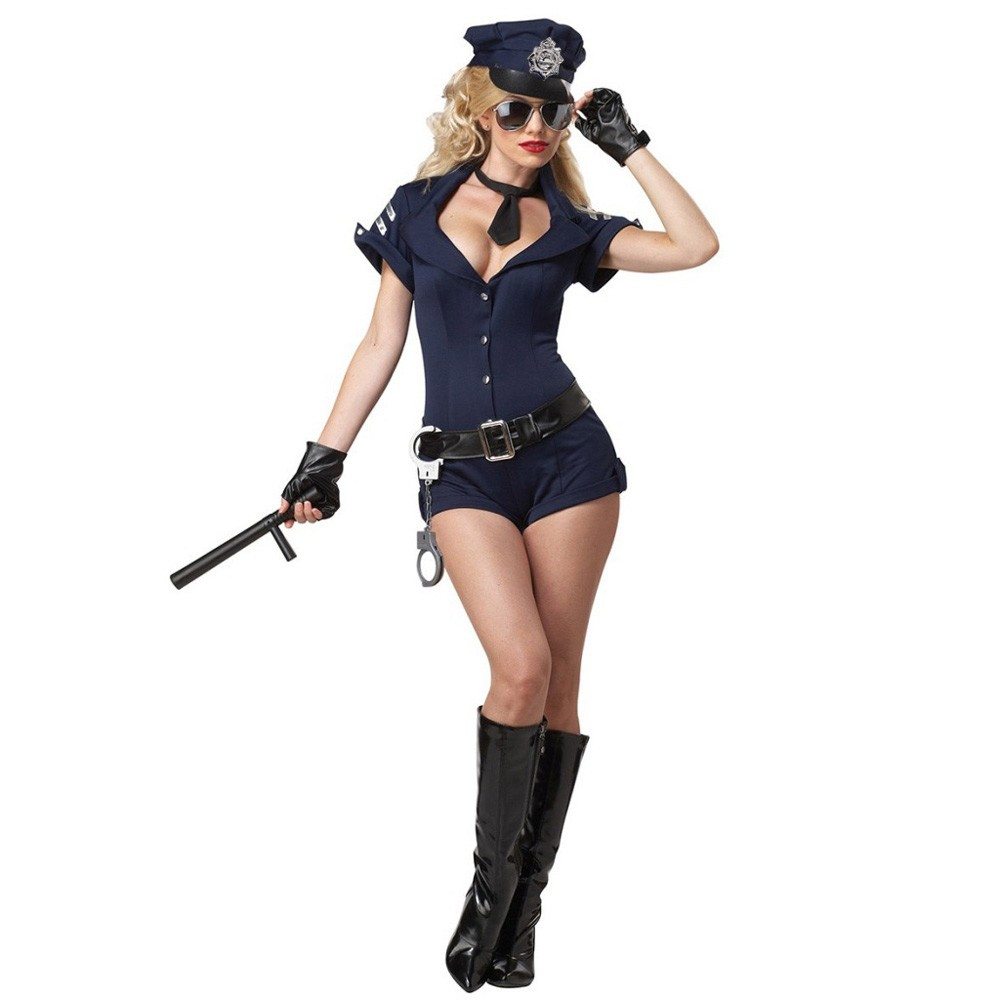 sexy kost m damen cop polizistin polizei fasching karneval. Black Bedroom Furniture Sets. Home Design Ideas