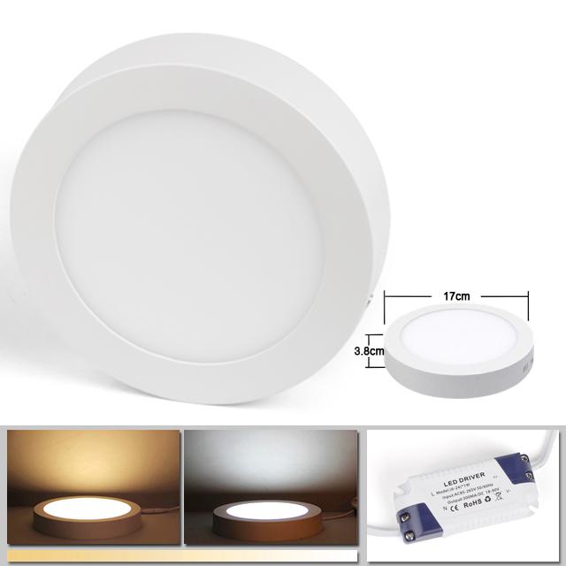 6 12 18 24w led panel leuchte dimmbar deckenlampe direkte. Black Bedroom Furniture Sets. Home Design Ideas