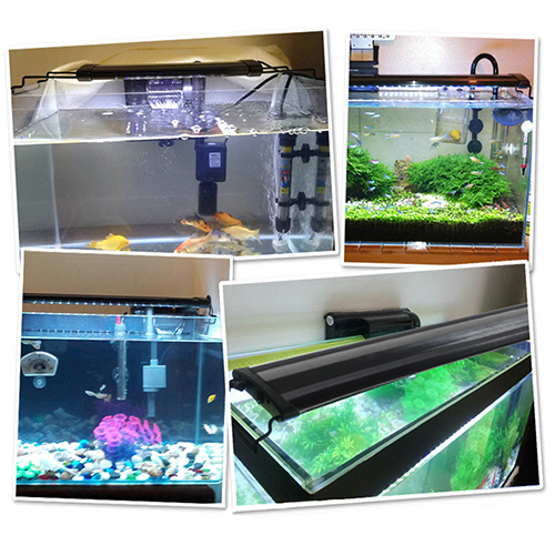 aquarium led beleuchtung aufsetzleuchte aluminiumgeh use lampe ebay. Black Bedroom Furniture Sets. Home Design Ideas