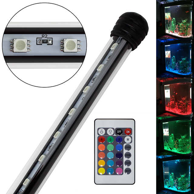 aquarium mondlicht rgb led lampe wasserdicht aquarium beleuchtung 38 110cm ebay. Black Bedroom Furniture Sets. Home Design Ideas