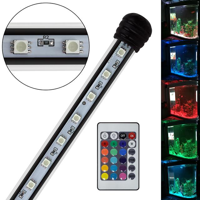 aquarium mondlicht rgb led lampe wasserdicht aquarium beleuchtung 38 110cm ebay. Black Bedroom Furniture Sets. Home Design Ideas