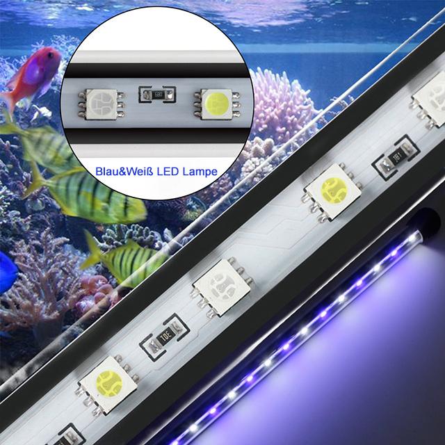 aquarium mondlicht leuchtbalken led lampe wasserdicht aquarium beleuchtung ebay. Black Bedroom Furniture Sets. Home Design Ideas