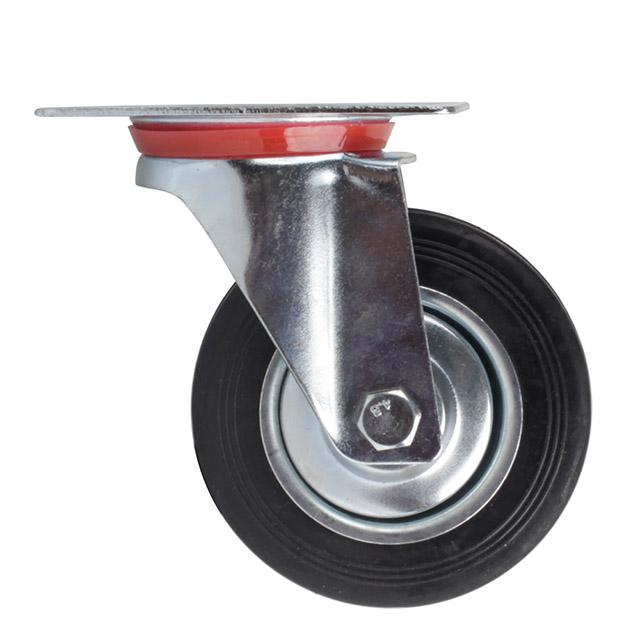 transportrolle lenkrolle bockrolle lenkrolle mit bremse 75 100 125 160 200mm neu. Black Bedroom Furniture Sets. Home Design Ideas