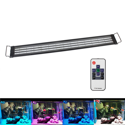 aquarium led beleuchtung aufsetzleuchte aluminiumgeh use lampe blau wei rgb ebay. Black Bedroom Furniture Sets. Home Design Ideas