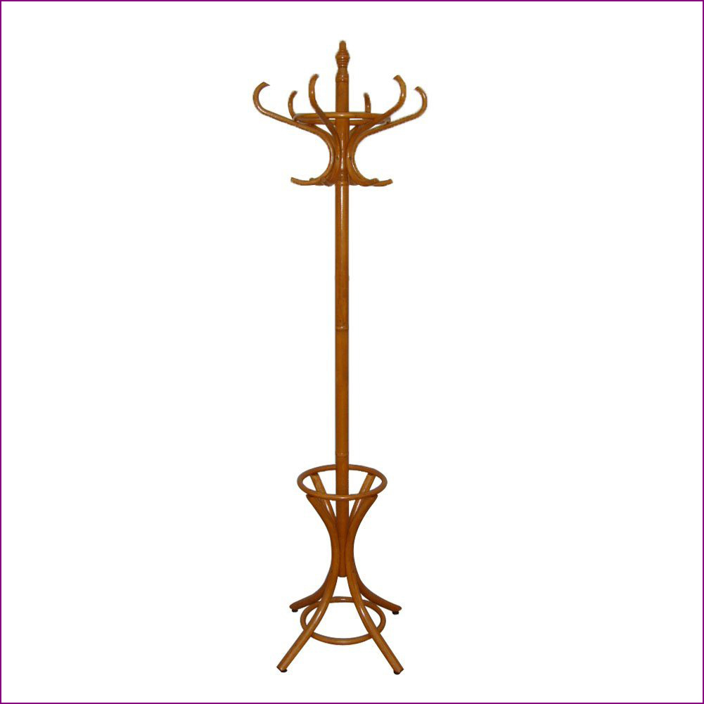 4 Colors New Children Wooden Coat Rack Clothes Stand