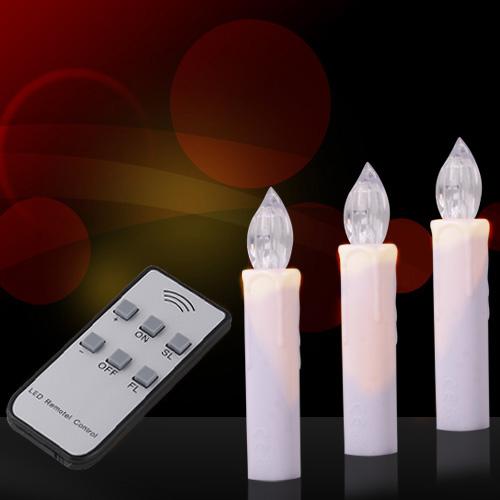 20 kabellose led weihnachtskerzen christbaumschmuck lichterkette 21212a ebay. Black Bedroom Furniture Sets. Home Design Ideas