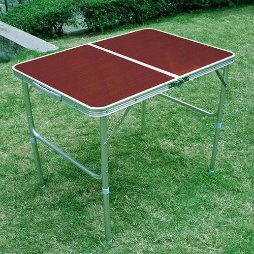 klapptisch campingtisch klappbar tisch alu koffertisch rotbraun 90x60x70 40cm ebay. Black Bedroom Furniture Sets. Home Design Ideas