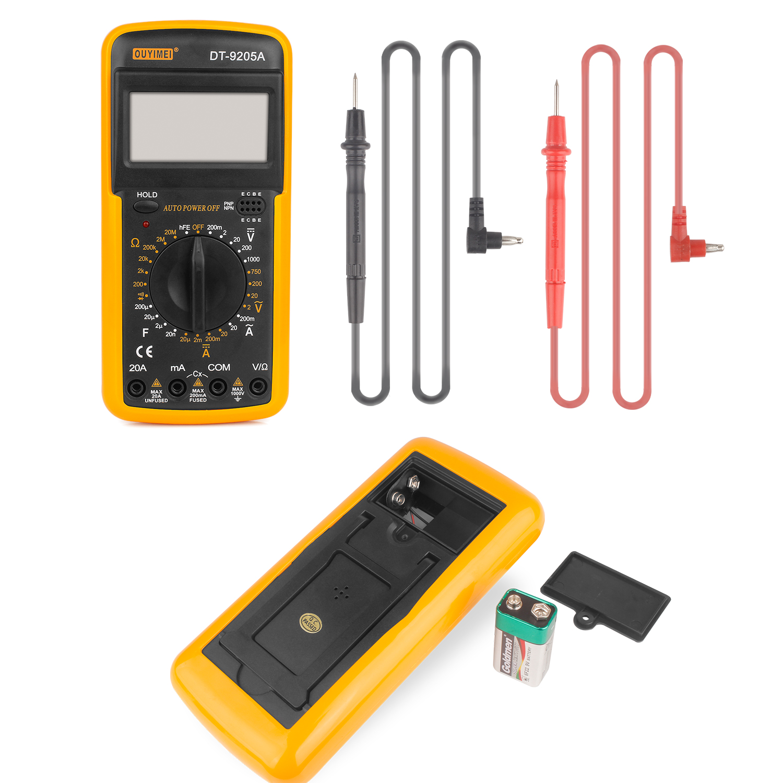 Digital Multimeter Messgerat Lcd Dt 9205a Voltmeter Werkzeug Inkl