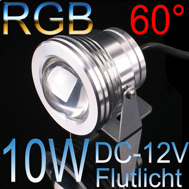 10w rgb led flutlicht fluter strahler licht scheinwerfer dc12v ng4085 ebay. Black Bedroom Furniture Sets. Home Design Ideas