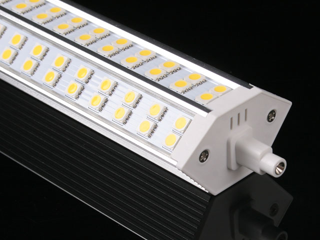 R7s j189mm 72 smd led lampadina bianco caldo tubo alogeno for Alogena r7s led