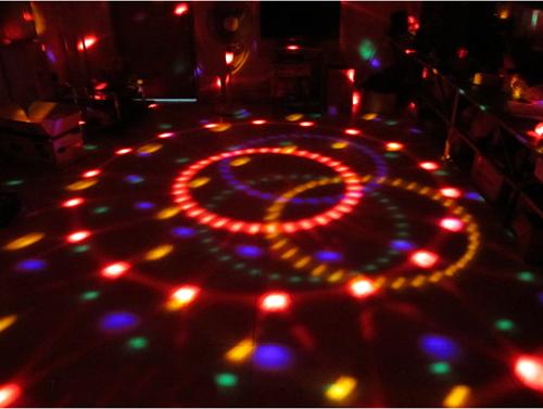 dj boule de disco effet de lumi re automatique led f f te bar no l pubs ebay. Black Bedroom Furniture Sets. Home Design Ideas
