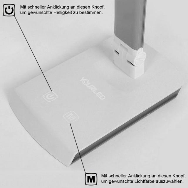 10w dimmbar led tischleuchte schreibtischlampe schwenkbar. Black Bedroom Furniture Sets. Home Design Ideas