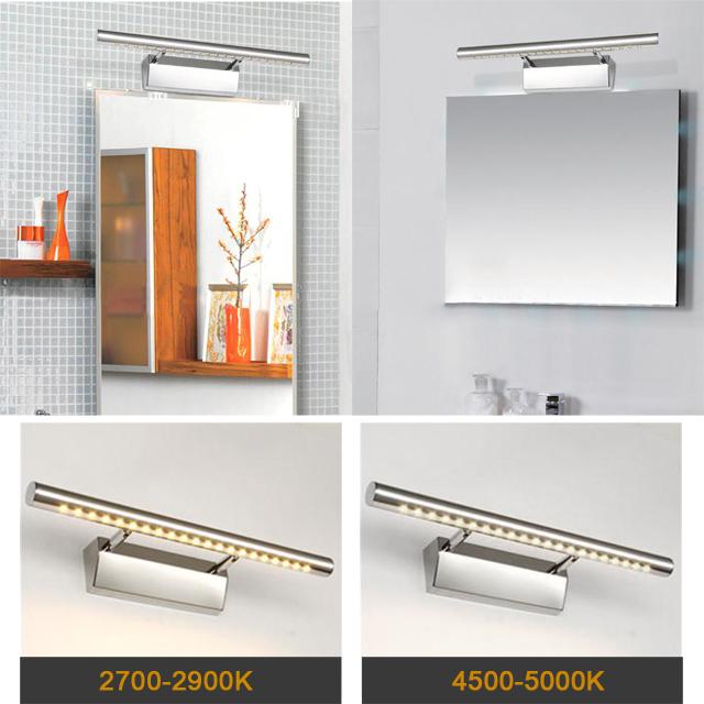 Led lampe miroir blanc clairage luminaire de salle bain for Placard salle de bain miroir