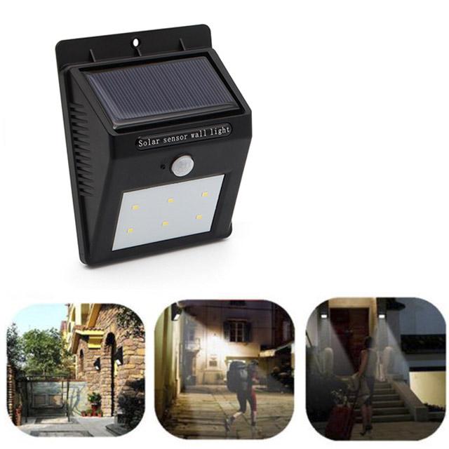 Pir 6 led lampe solaire avec d tecteur de mouvement for Applique murale exterieur avec detecteur de mouvement solaire